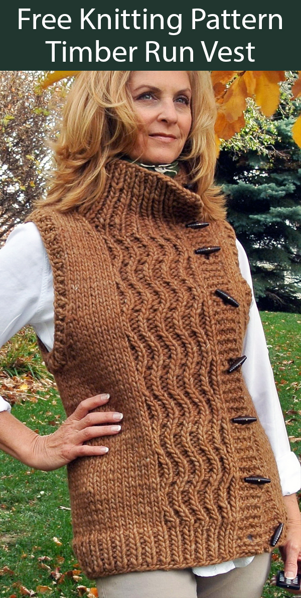Free Knitting Pattern for Timber Run Vest