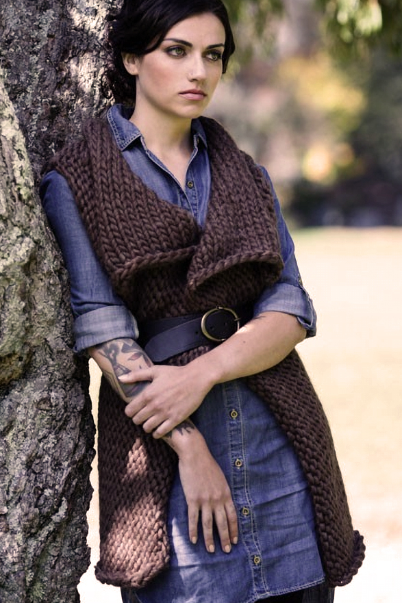 Knitting Pattern for Easy Time Traveler Reversible Vest