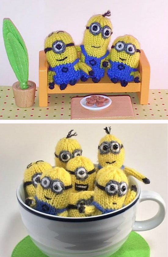 Free Knitting Pattern for Tiny Tiny Minions