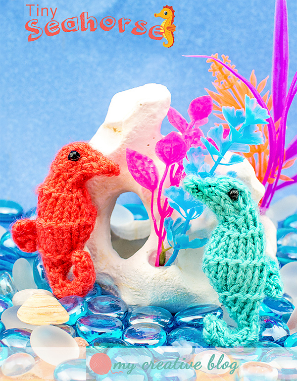Free Knitting Pattern for Tiny Seahorse