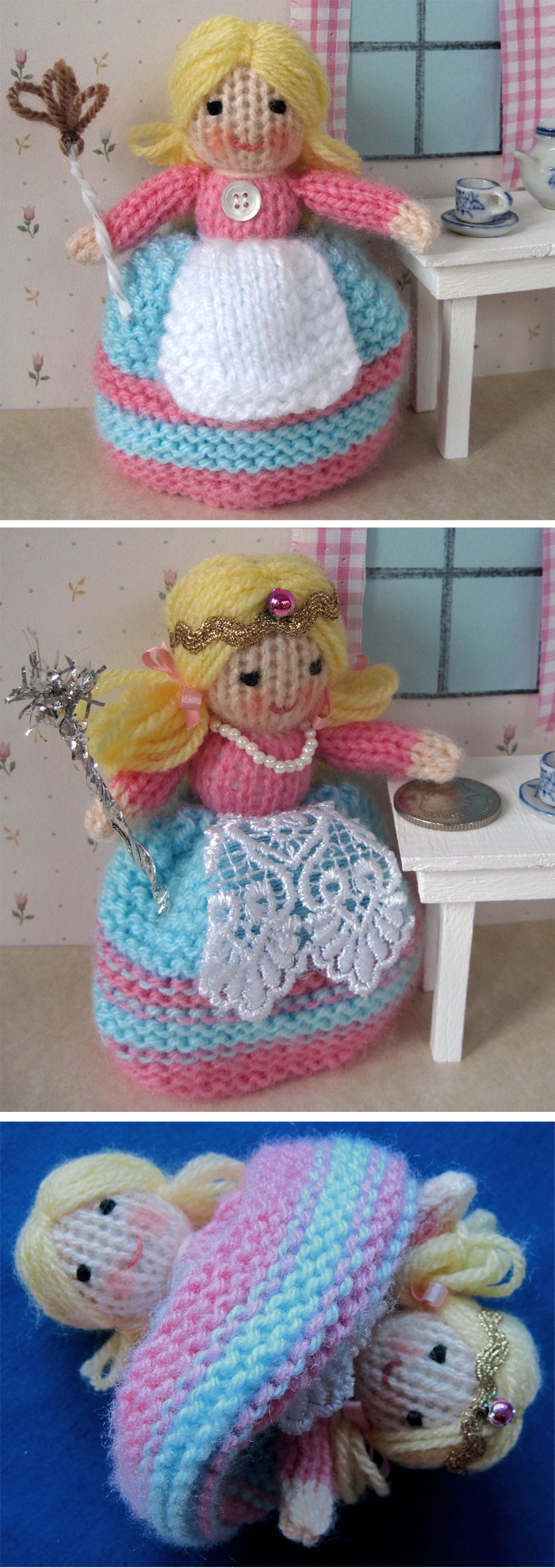 Free Knitting Pattern for Tiny Topsy Doll
