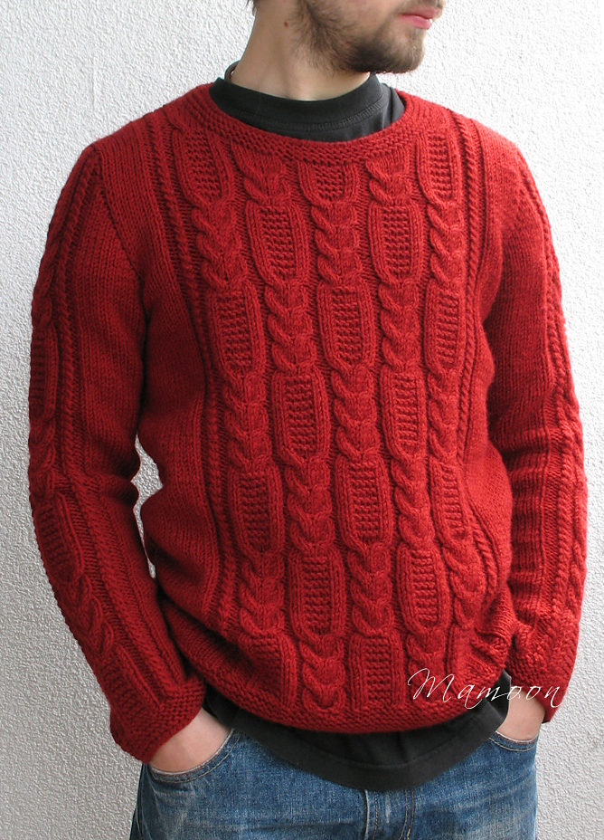Free Knitting Pattern for Tire Trace Sweater