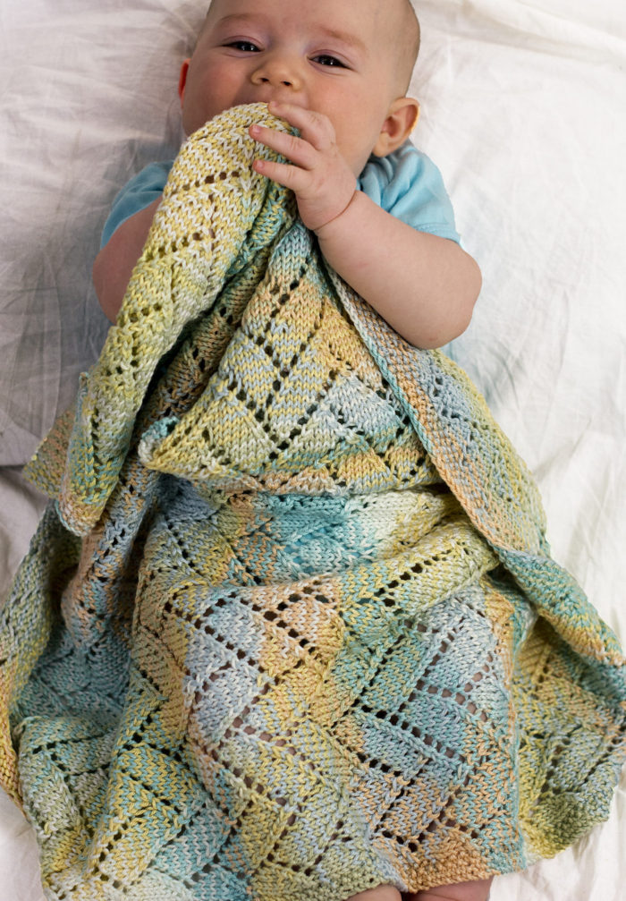 Free Knitting Pattern for A Tisket A Tasket Baby Blanket