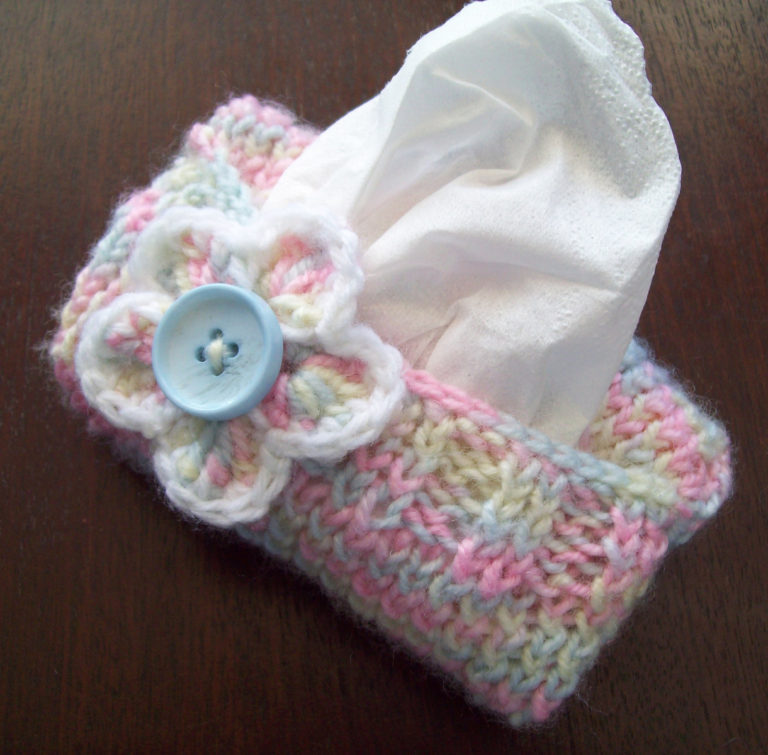 Free Knitting Pattern for Sweater for Purse Tissue Packets