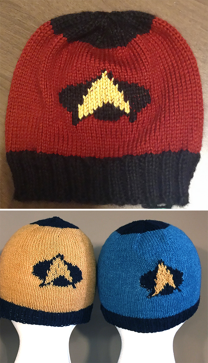 Free Knitting Pattern for To Boldly Go Hat