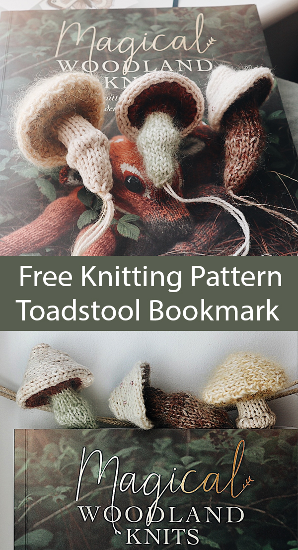 Knitting Pattern for Toadstool Bookmark
