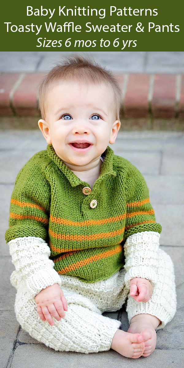 Knitting Pattern for Baby and Child Sweater and Pants
