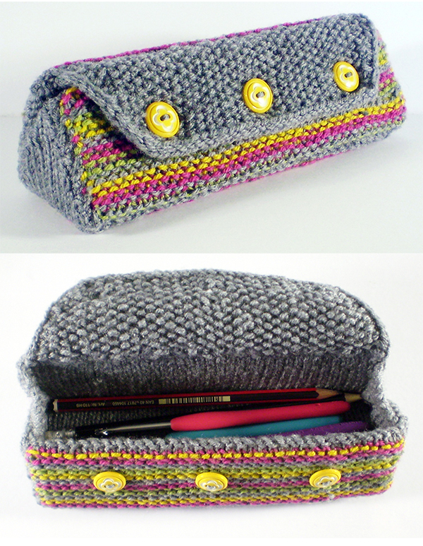 Free Knitting Pattern for The Toby Case