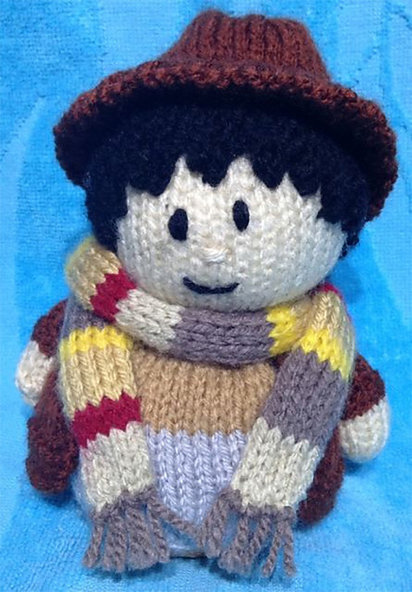 Knitting Pattern for Doctor Who Choc Orange Cover / Tom Baker Toy