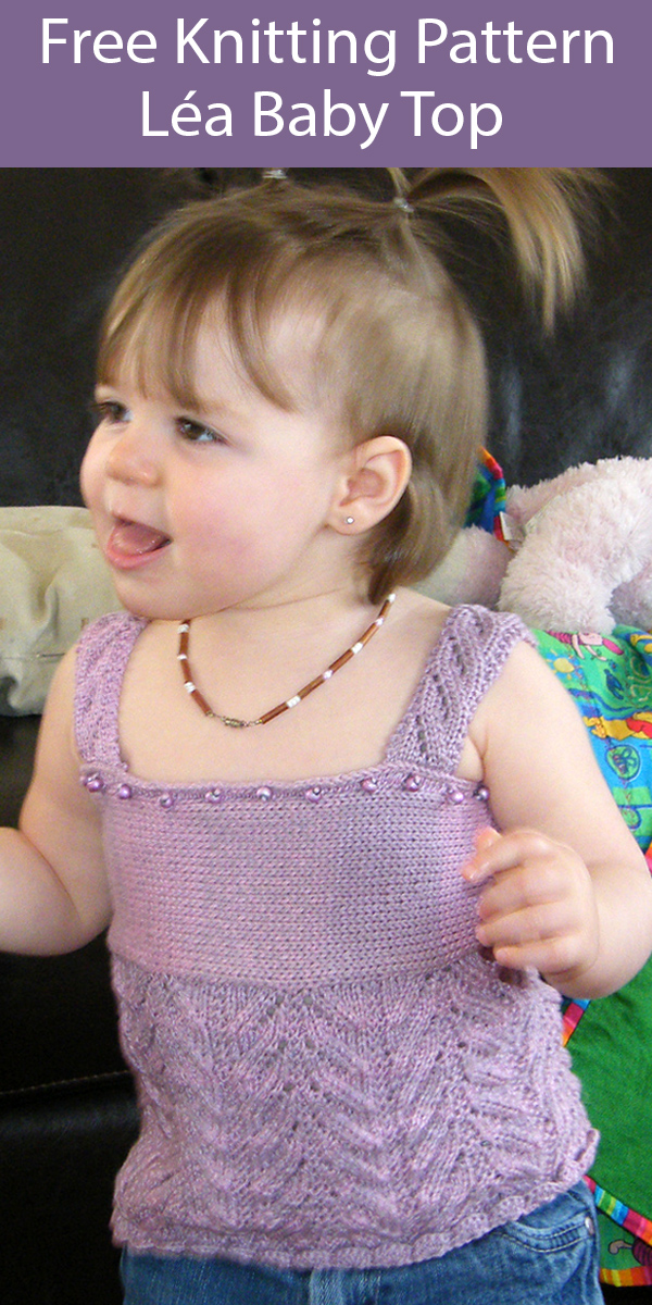 Free Knitting Pattern for Léa Baby Top
