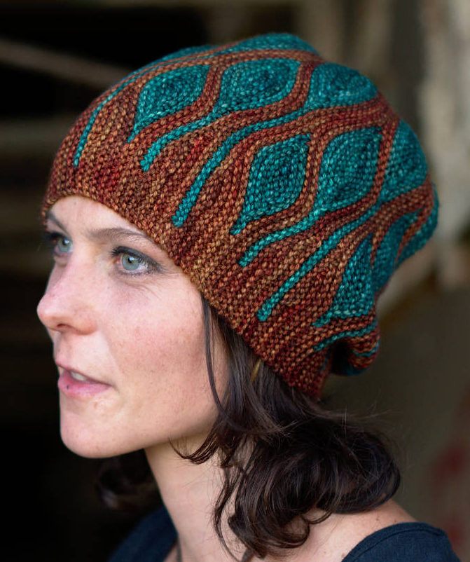 Knitting Pattern for Toph Slouchy Beanie Knit Flat