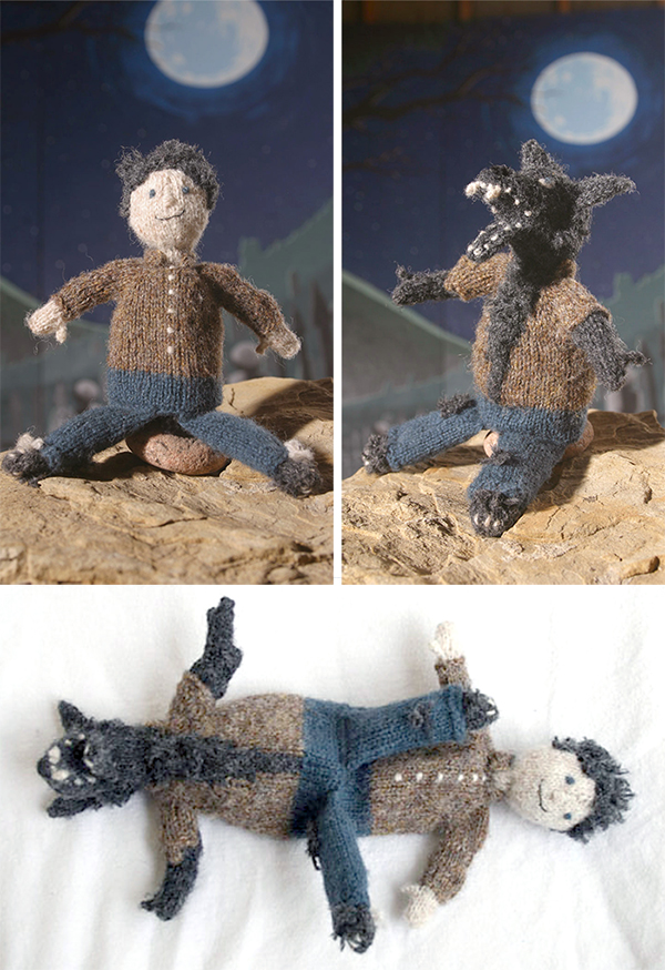 Knitting Pattern for Topsy Turvy Werewolf