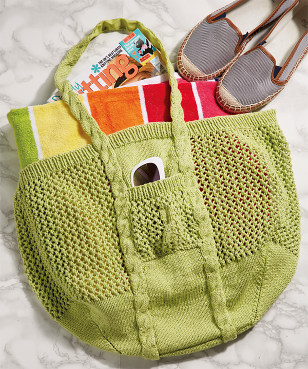 Knitting Pattern for Tote-ally Fab Bag