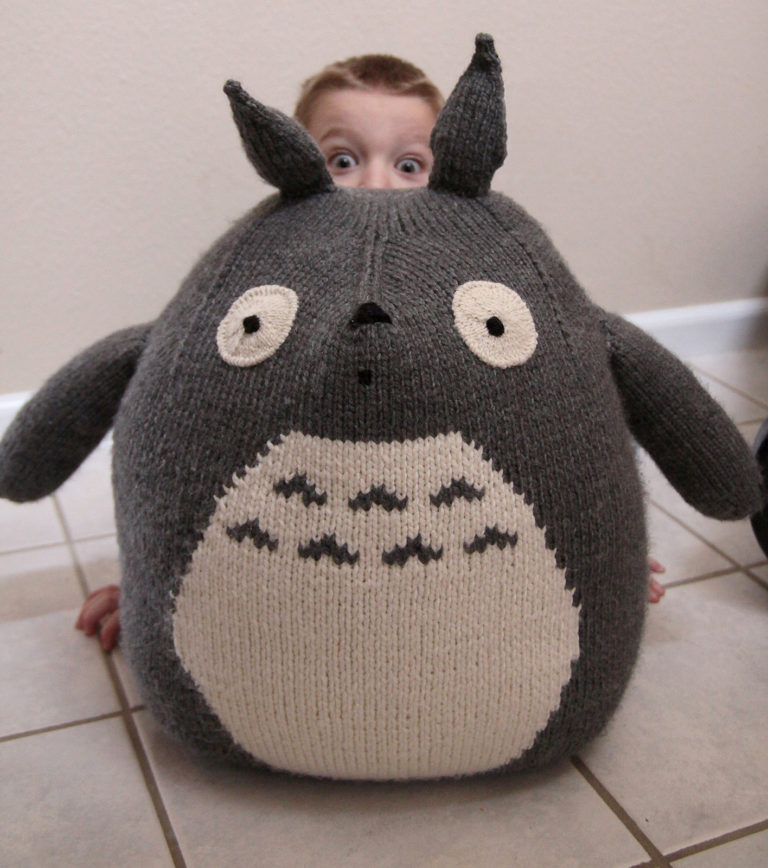 Free Knitting Pattern for Giant Totoro Toy