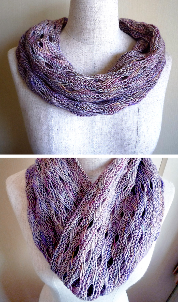 Free Knitting Pattern for Signs of Spring Cowl Cowl