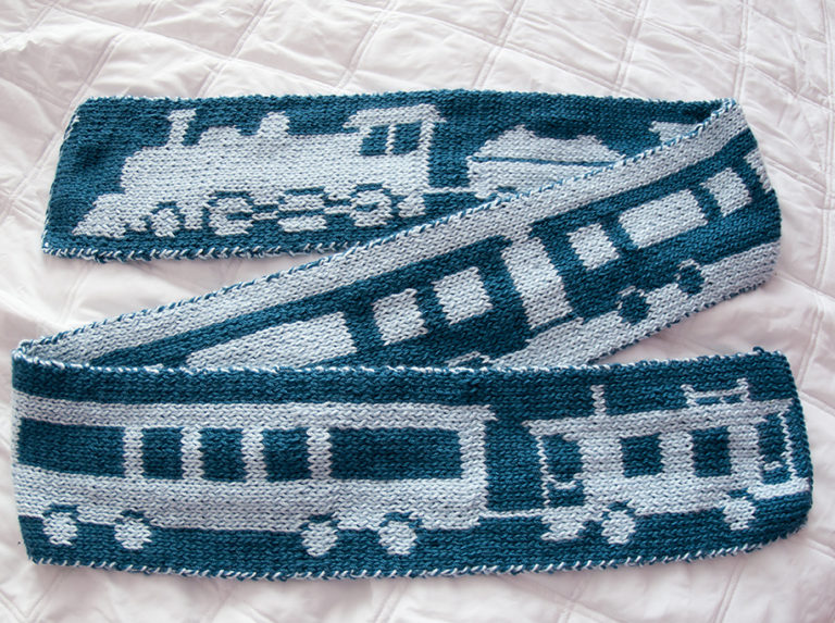 Free Knitting Pattern for Train Scarf
