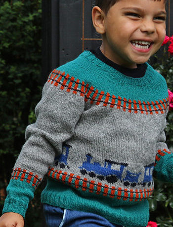 Free Knitting Pattern for Train Sweater