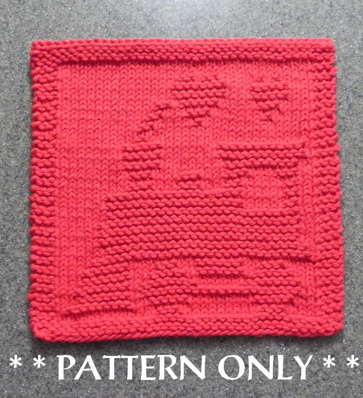 Knitting Pattern for Train Wash or Dish Cloth