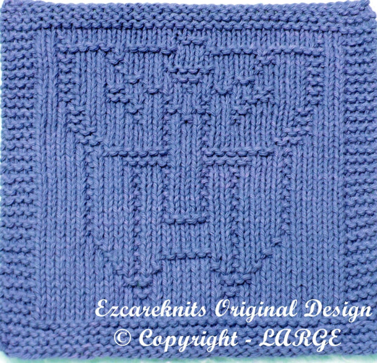 Knitting Pattern for Transformer Wash Cloth