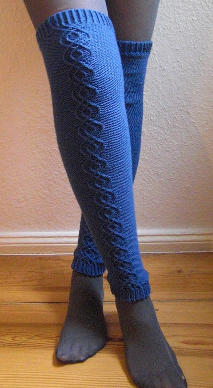 Free Knitting Pattern for Traveling Stitch Leg Warmers