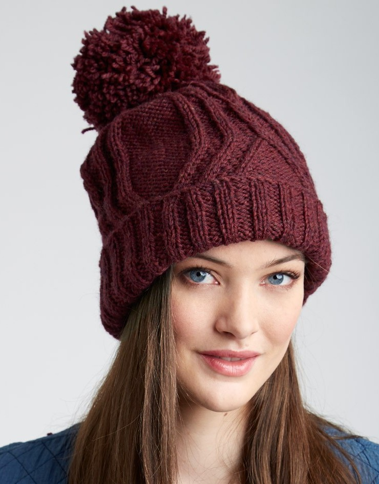 Pom Pom or Bobble Hats Knitting Patterns- In the Loop Knitting 2f0655a5b35f
