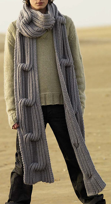 Free Knitting Pattern for Traveller Super Scarf
