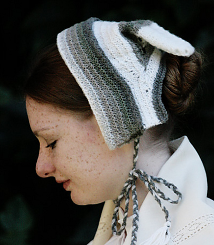 Free knitting pattern for Lady's Travelling Cap (1847)