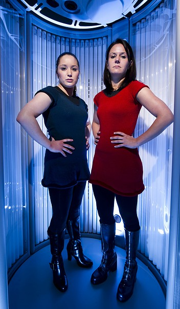 Knitting pattern for Trek Girl Dress from Knits for Nerds and more Star Trek inspired knitting patterns