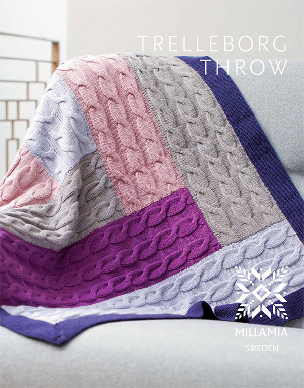 Knitting Pattern for Trelleborg Throw