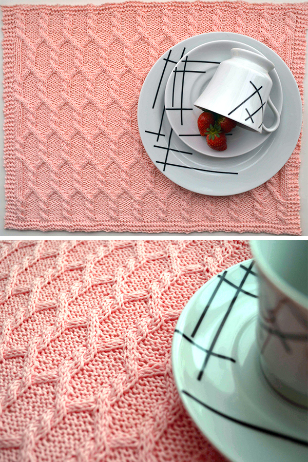 Free Knitting Pattern for Tretyakov Placemat