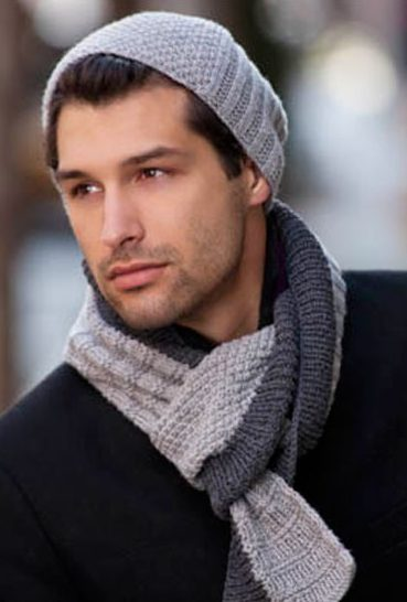 Knitting Pattern for Treviso Hat and Scarf Set
