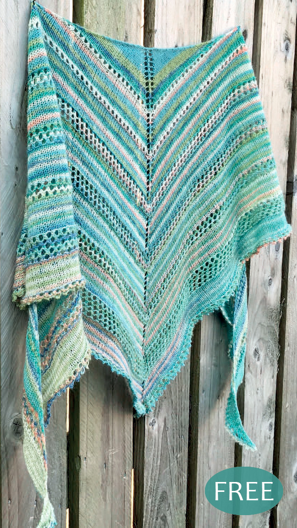 Free Knitting Pattern for Easy Head Over Heels Shawl