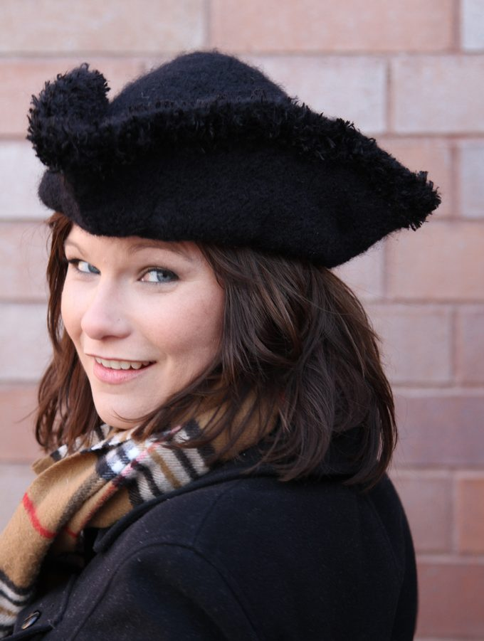 Free Knitting Pattern for Tricorn Hat