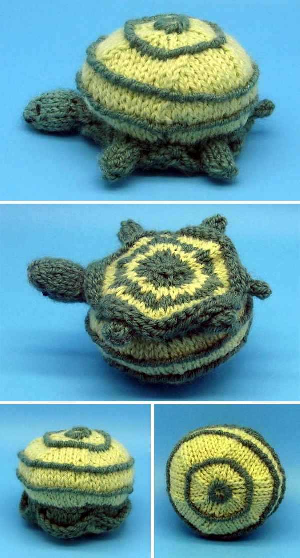 Free Knitting Pattern for Tuck the Turtle
