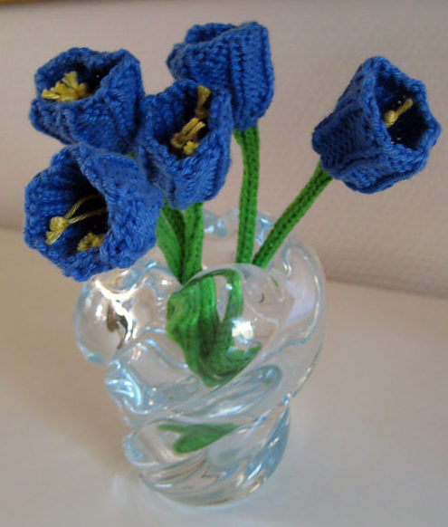 Free Knitting Pattern for Flower