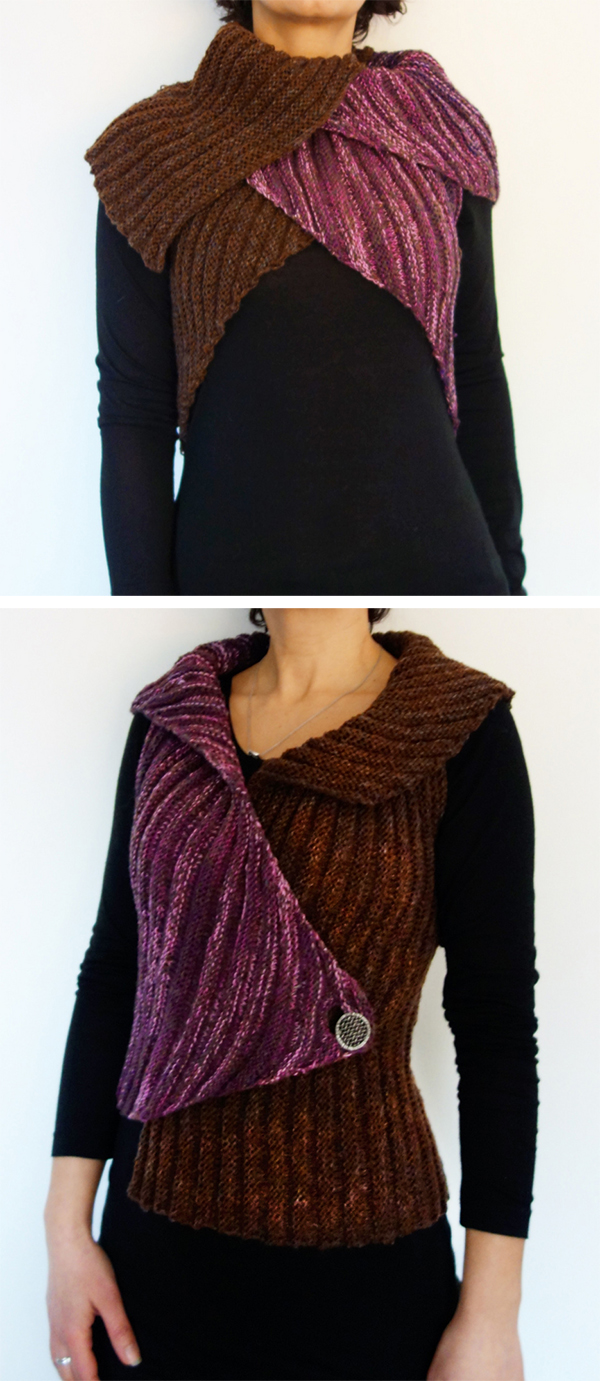 Knitting Pattern for Easy Tulip Vest