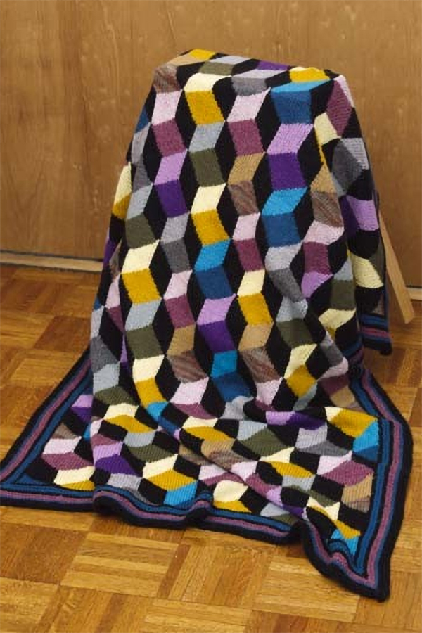 Tumbling Blocks Afghan Throw