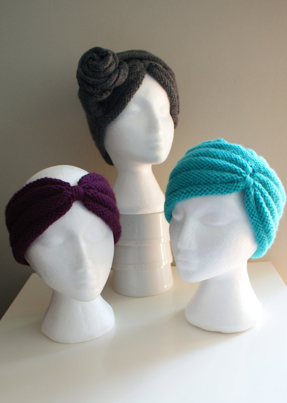 Turban Headband, Hat, and Multi-way Wrap Knitting Patterns