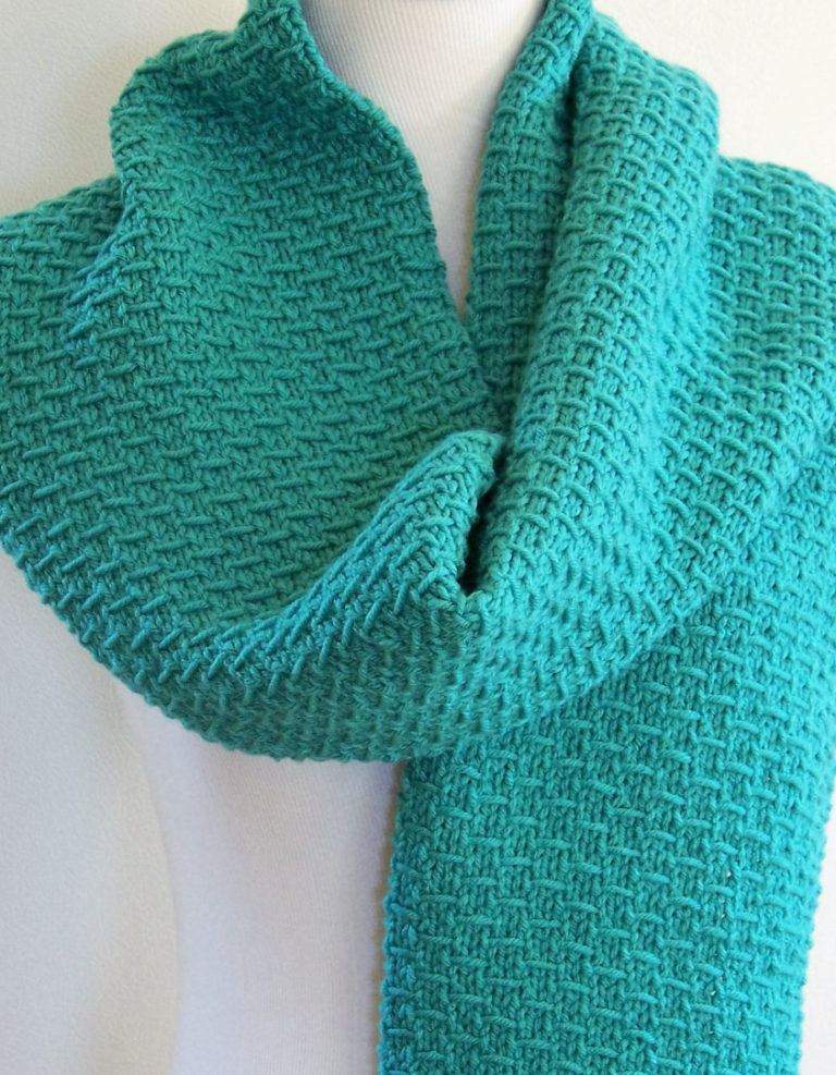 Knitting Pattern for 4-Row Slip Stitch Scarf