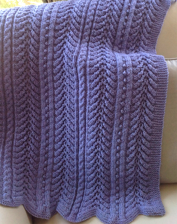 Free Knitting Pattern for 6 Row Repeat Turtle Cove Baby Blanket