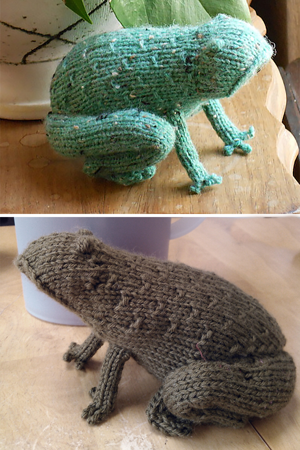 Free knitting pattern for Tweed Toad or Frog