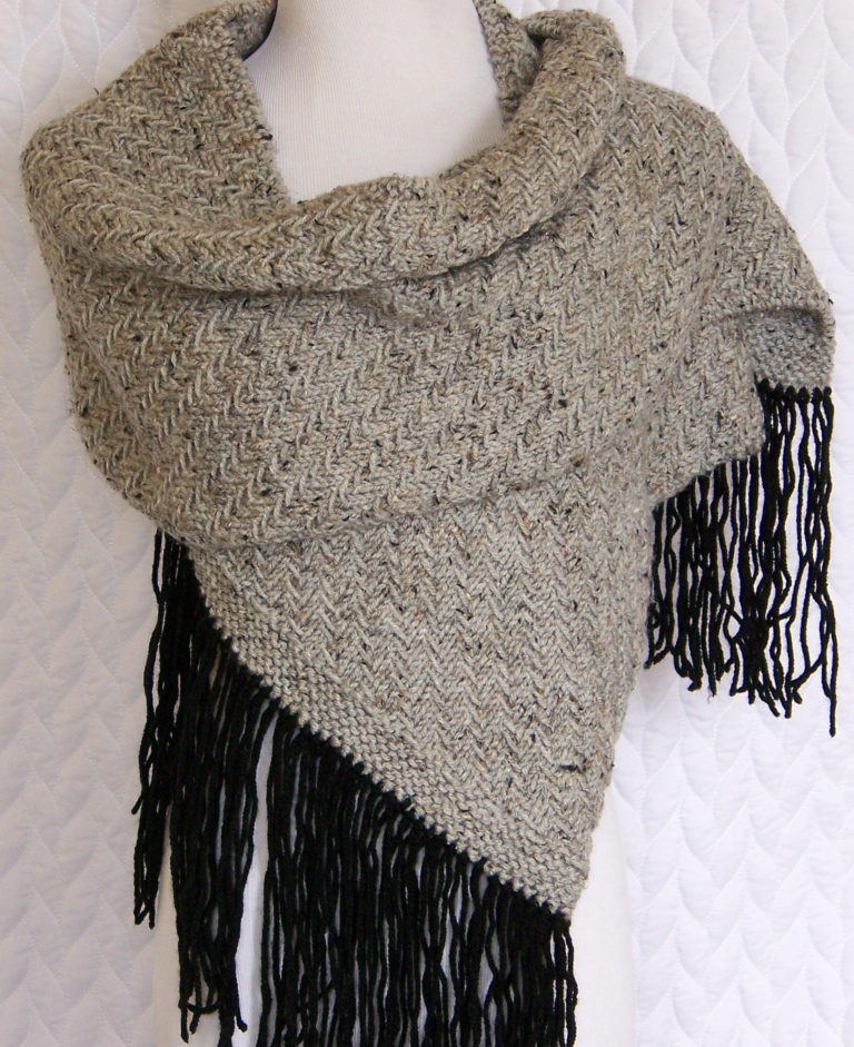 Knitting Pattern for Tweed Wrap