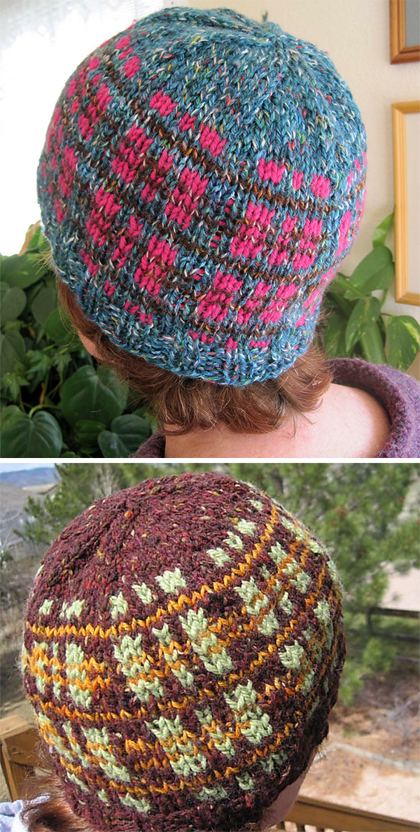 Free Knitting Pattern for Tweedy Plaid Beanie