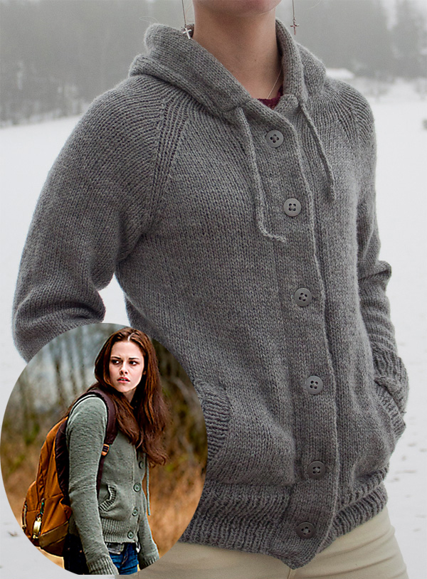 Free Knitting Pattern for Twilight Hoodie