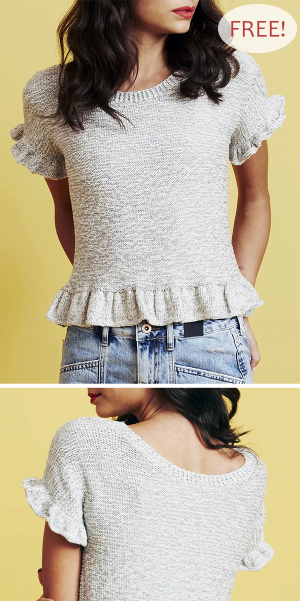 Free Knitting Pattern for Twirling Top