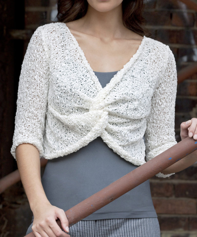 Free Knitting Pattern for Twist Front Top