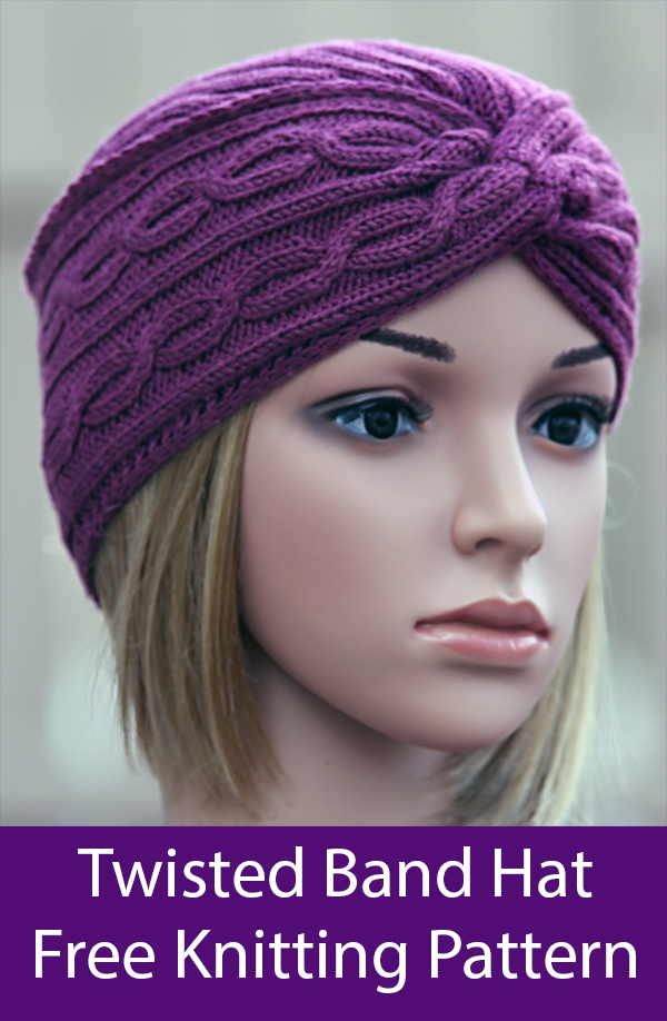 Free Knitting Pattern for Twisted Band Hat