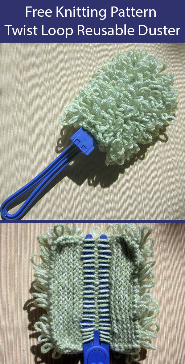 Free Knitting Pattern for Twisted Loop Reusable Duster