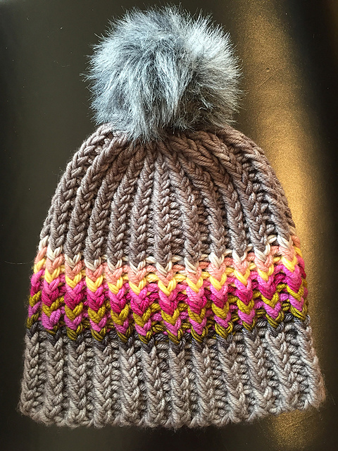 Pom Pom or Bobble Hats Knitting Patterns- In the Loop Knitting