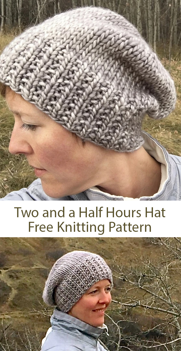 Free knitting pattern for Two and a Half Hours Hat